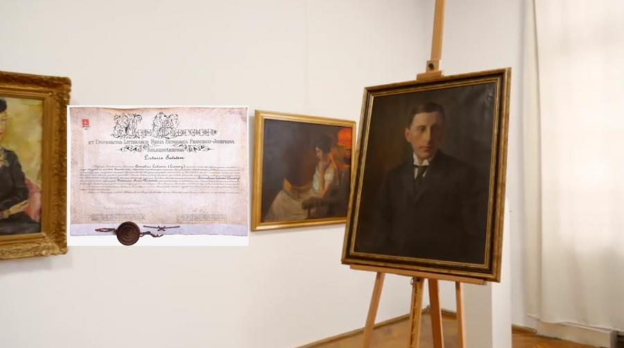 Portretul primarului Cornel Luțai, exponent al generației Marii Uniri, exponatul lunii la Complexul Muzeal Arad