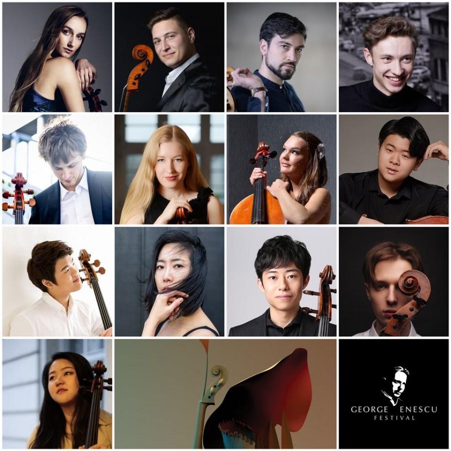 Ei sunt cei 13 violonceliști calificați în a II-a etapă a Concursului Internațional George Enescu