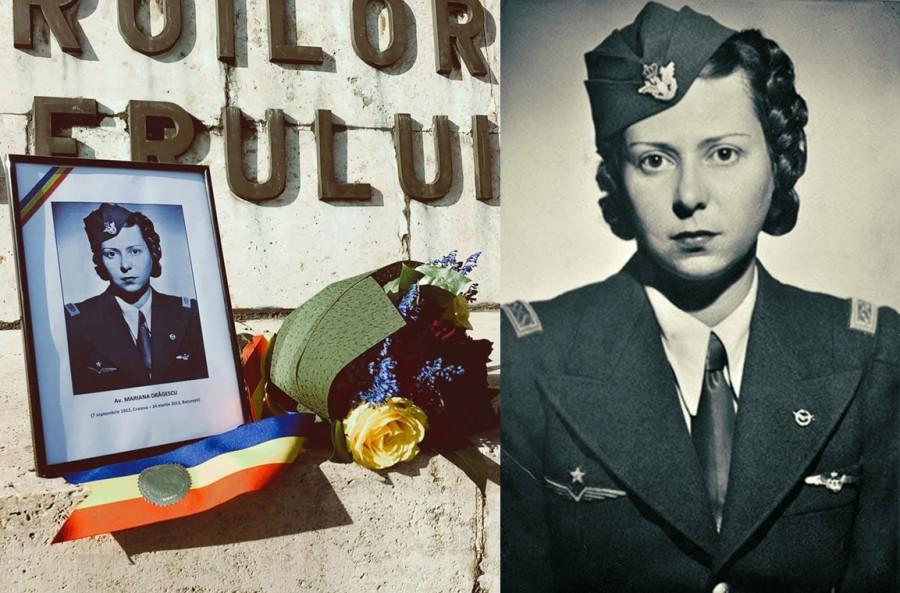 108 ani de la nașterea Marianei Drăgescu, aviatoare a Escadrilei Albe în timpul celui de-al Doilea Război Mondial