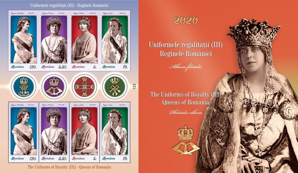 """""""Uniformele regalităţii (III). Reginele României"""" – Emisiune de mărci poştale, în circulaţie din 15 septembrie"""