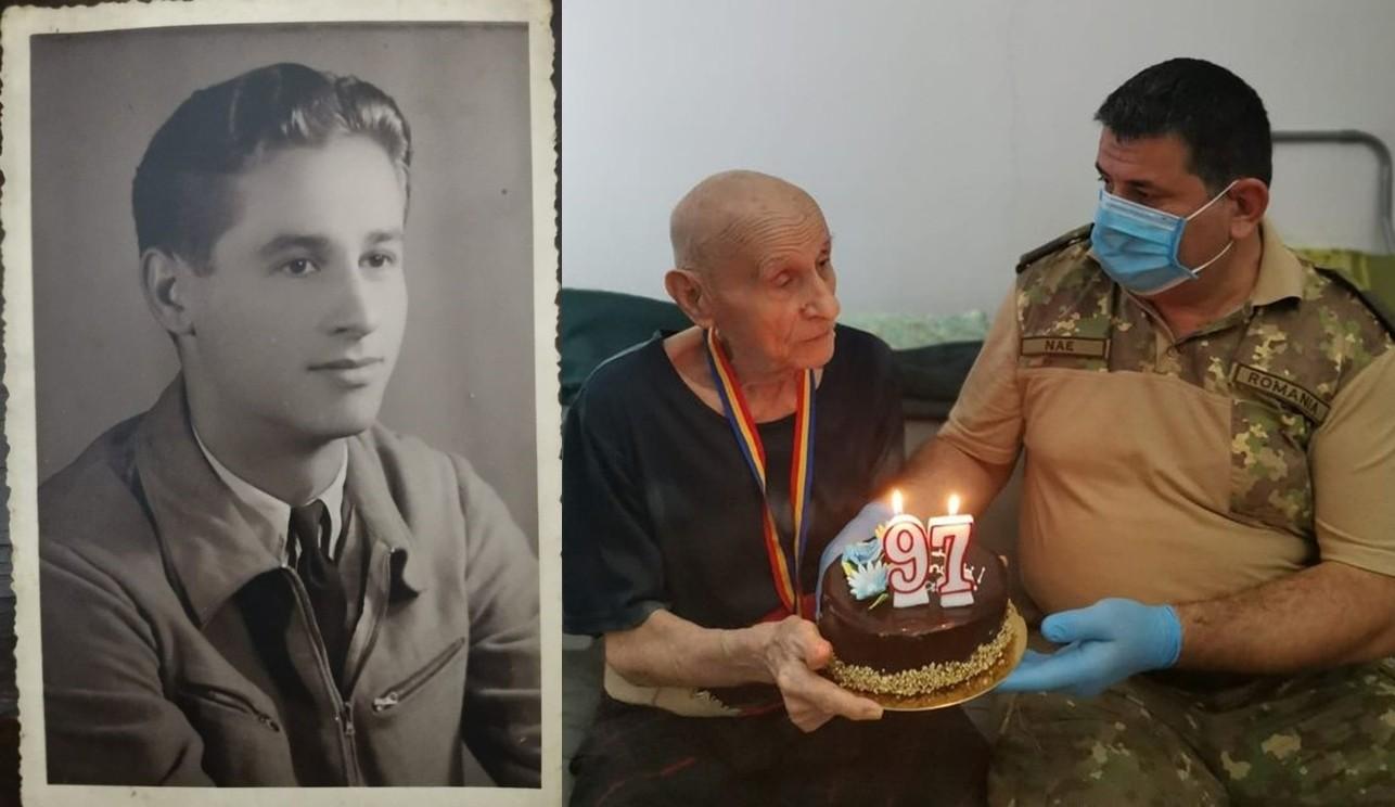 Veteranul de război Ion Chivu, aniversat la împlinirea vârstei de 97 de ani