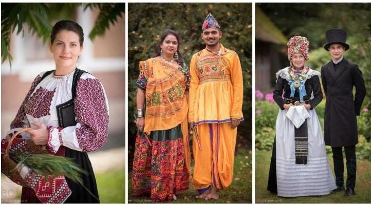 Peste 1.700 de fotografii ilustrând costume populare din 55 de ţări, expuse la Odorheiu Secuiesc