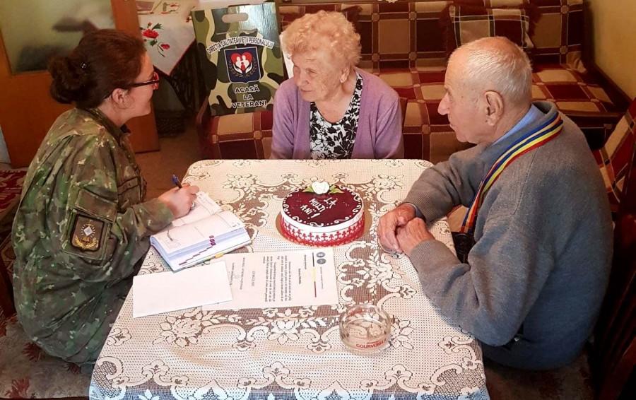 """Veteranul de război Dumitru Negrea a împlinit 101 ani. """"Să trăiți astfel încât să nu aveți regrete"""""""
