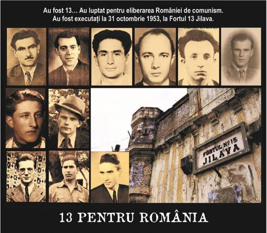 Cei 13 luptători anticomuniști parașutați de aviația SUA (1951-1953) vor fi comemorați la Fortul 13 Jilava, locul unde au fost executați