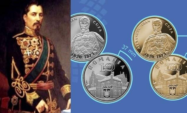Noi monede introduse în circulație de BNR, cu tema 200 de ani de la naşterea lui Alexandru Ioan Cuza