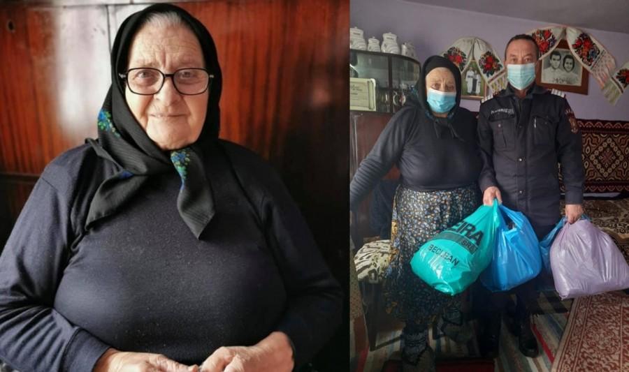 O bunică de 81 de ani a împletit 40 de perechi de ciorapi de lână pentru pompieri