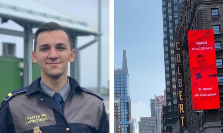 Este polițist de frontieră, are 23 de ani și a salvat 60 de vieți