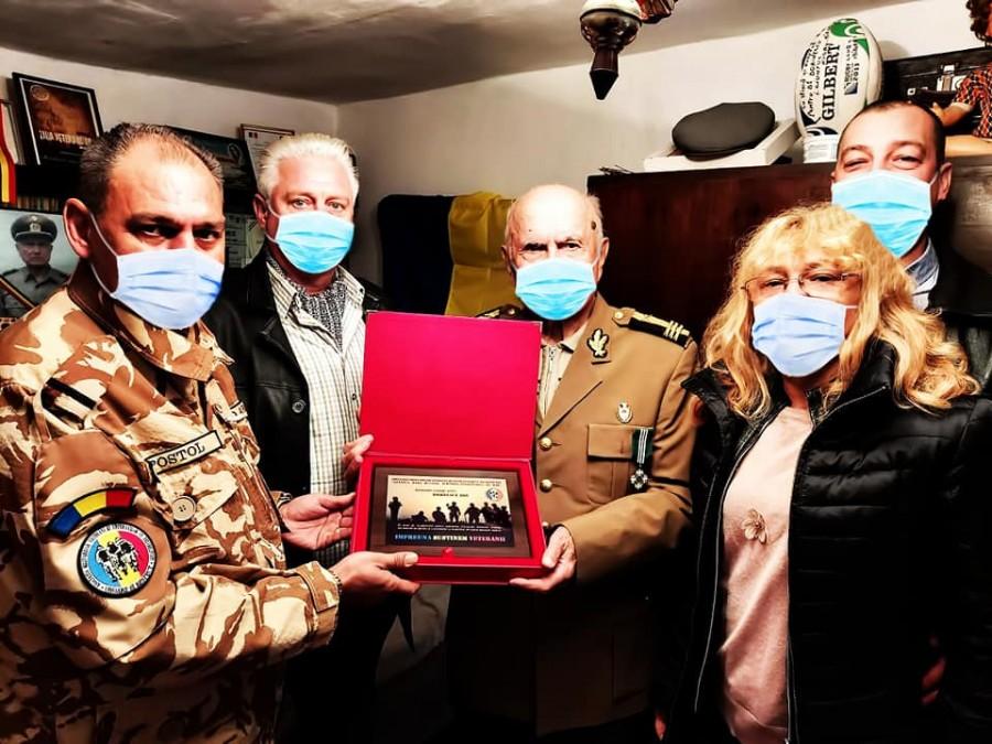 De la veteranii de astăzi la veteranul de război de ieri. Colonelul în retragere Ion Durnescu, membru de onoare al AMVVD