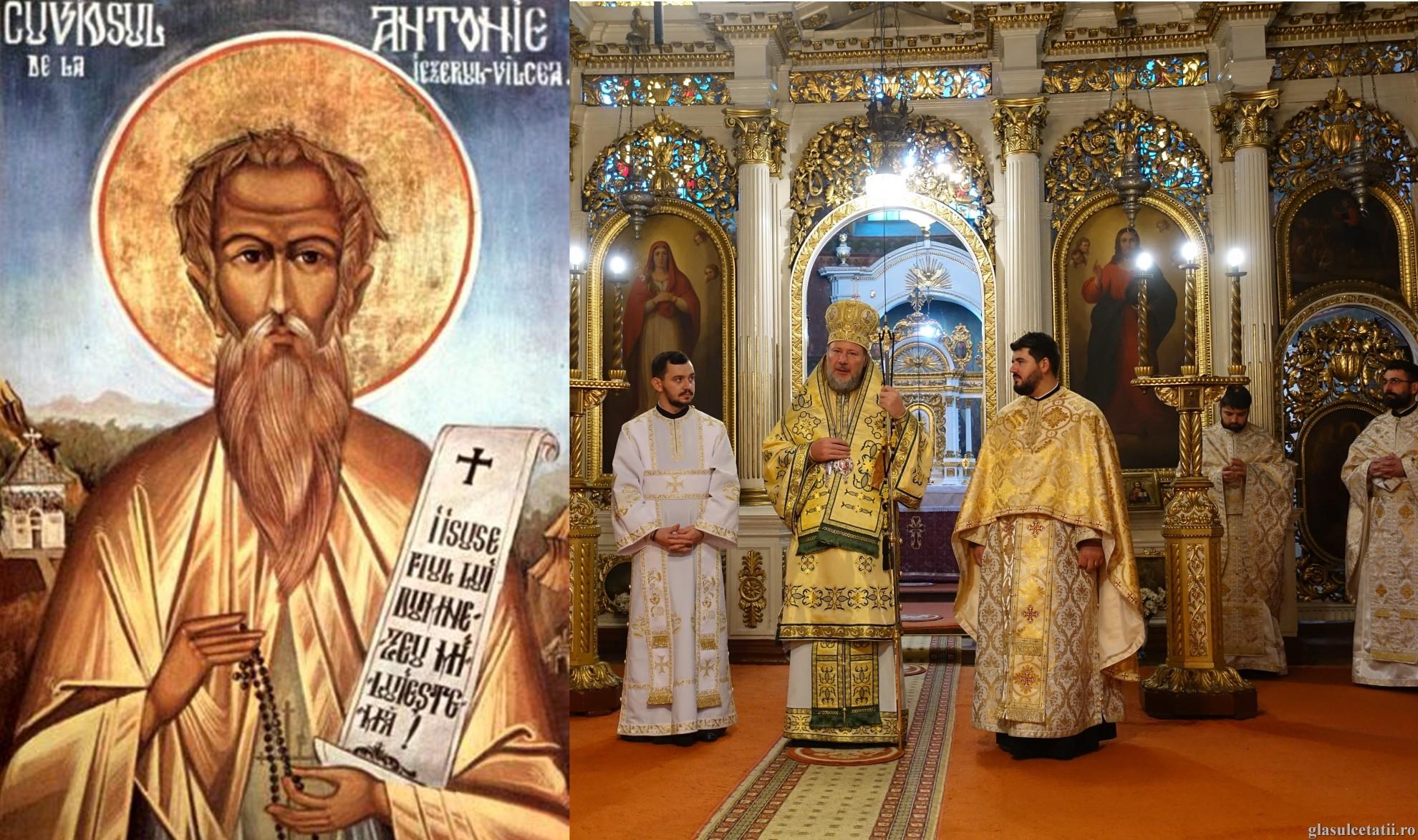 (FOTO) Liturghie Arhierească și hirotonie întru diacon și preot la Catedrala Veche, în ziua de prăznuire a Sfântului Antonie de la Iezerul Vâlcii