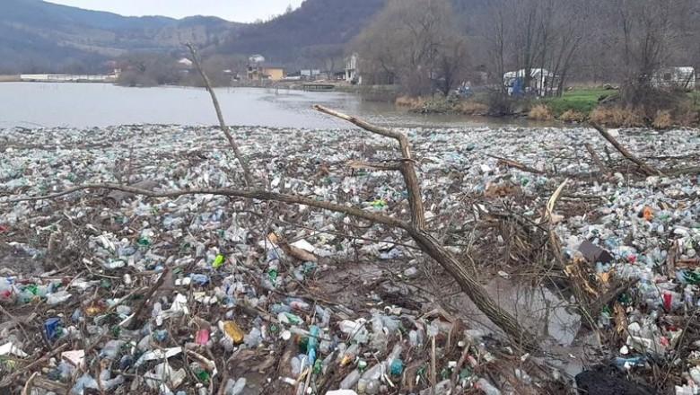 România, 2021. Dunărea, invadată de mii de pet-uri și resturi menajere în urma inundațiilor