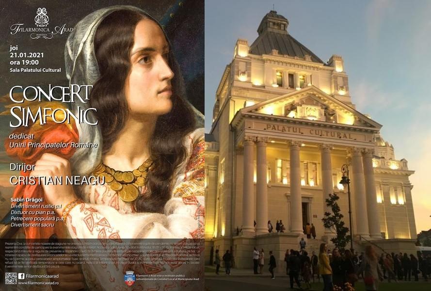 Concert simfonic dedicat Unirii Principatelor Române, la Filarmonica Arad