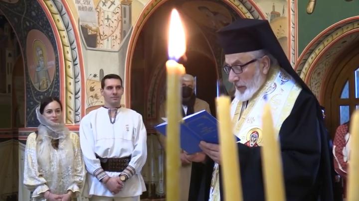 (VIDEO) Maria-Alexandra, strănepoata Regelui Mihai, a fost botezată la Curtea de Argeș