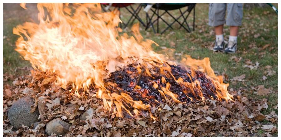 Arderea frunzelor în gospodărie, interzisă de luna viitoare. Amenzi foarte mari!