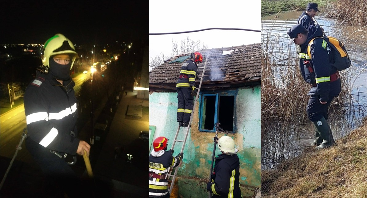 899 misiuni ale pompierilor militari arădeni în luna ianuarie 2021