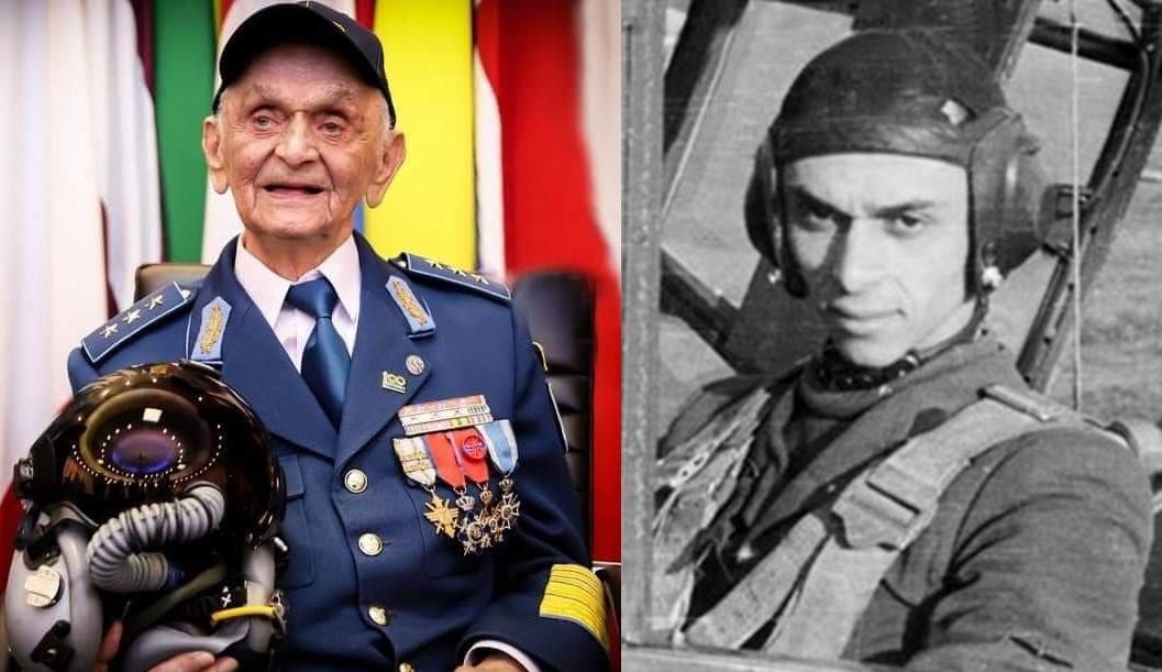 Generalul erou Ion Dobran, ultimul As al Aviației Române de război în viață, a împlinit 102 ani