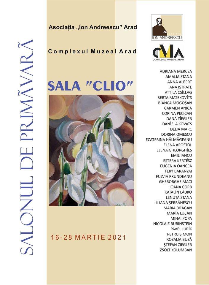 """""""Salonul de primăvară 2021"""". 35 de artiști plastici își expun creațiile la Sala Clio a Muzeului de Artă Arad"""