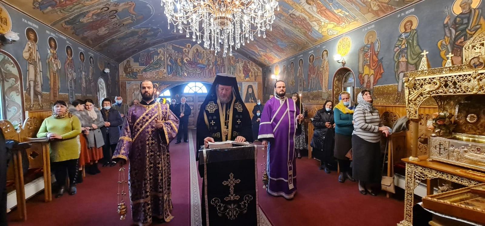 PS Emilian Crișanul a săvârșit a treia parte a Canonului Mare la Mănăstirea Feredeu și a vizitat șantierul bisericii din Parohia Vladimirescu II