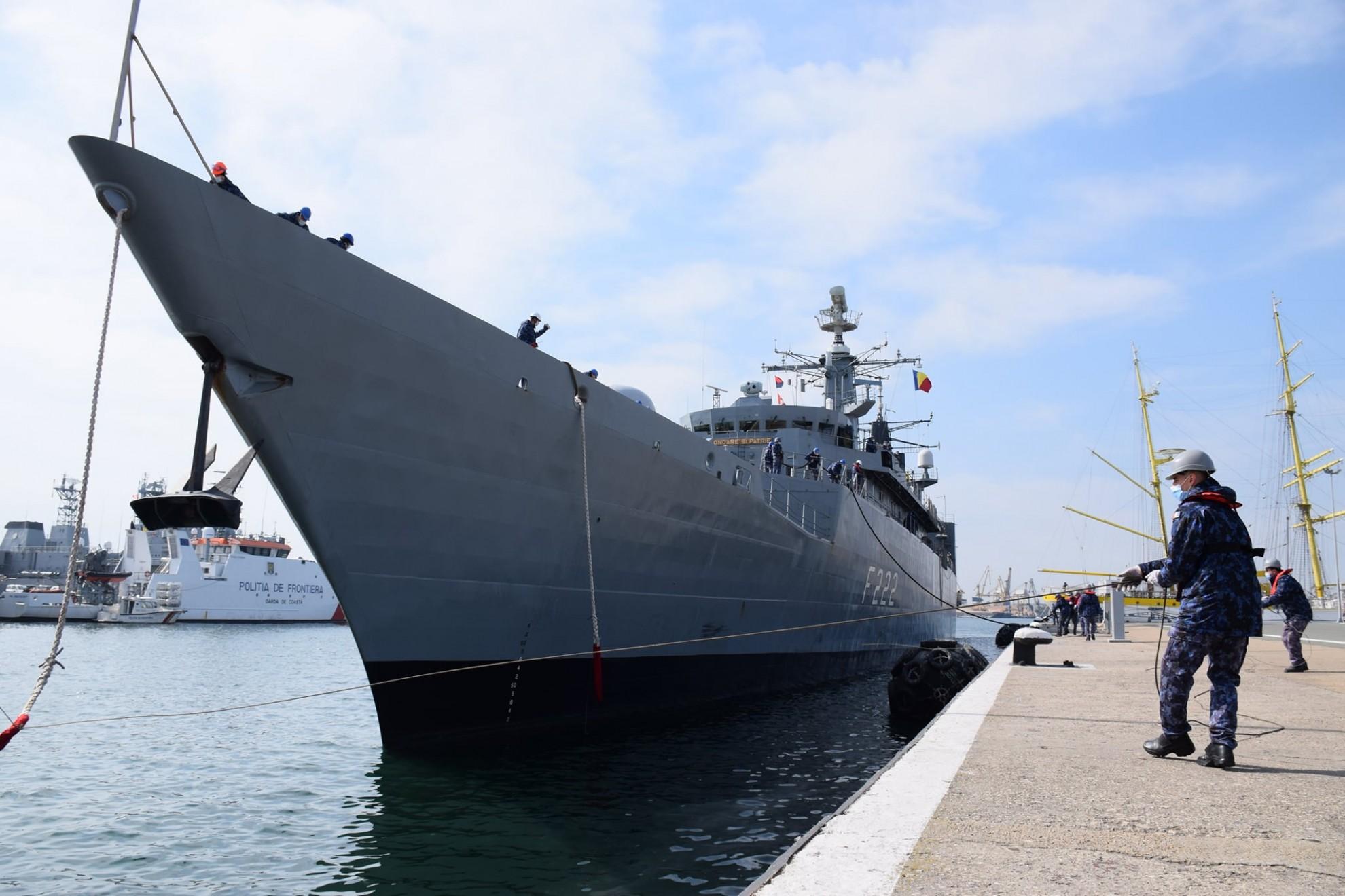 "Fregata ""Regina Maria"" la Final de Misiune NATO"