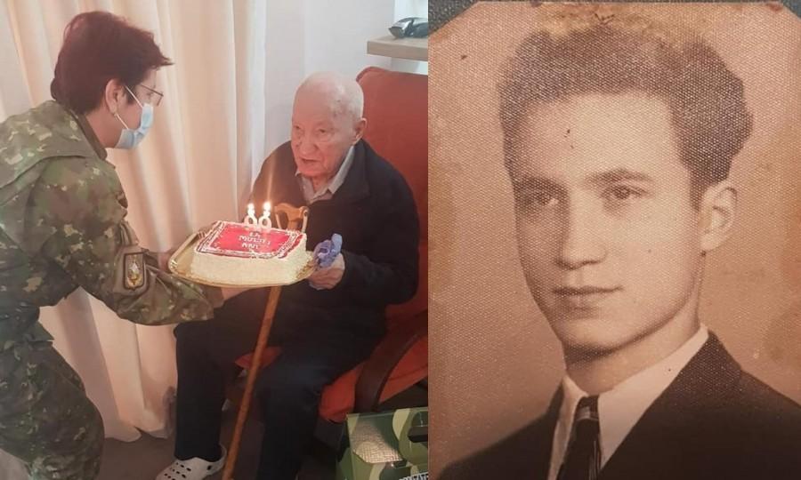 Veteranul de război Nicolae Gheorghe sărbătorit la împlinirea vârstei de 99 de ani