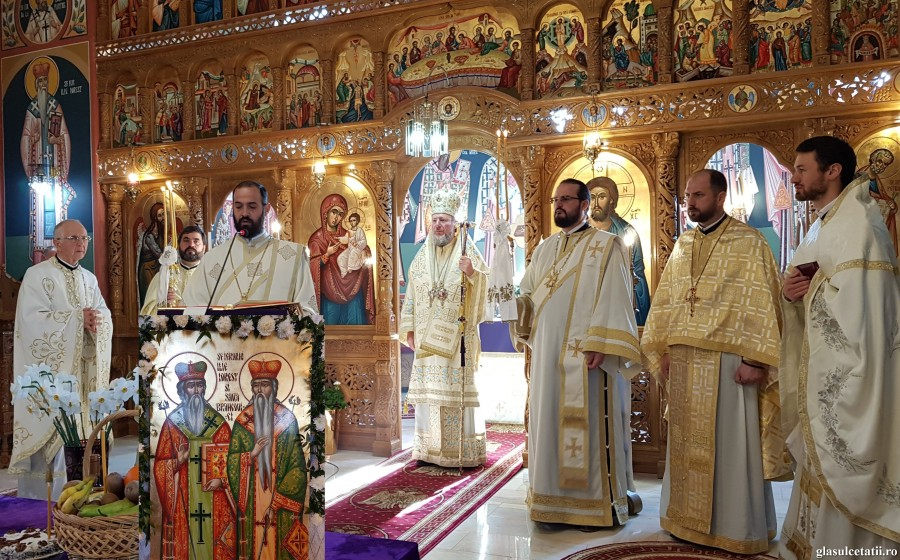 Singura biserică din Arad închinată Sfinților Ierarhi Ilie Iorest și Sava Brancovici și-a serbat pentru prima dată hramul