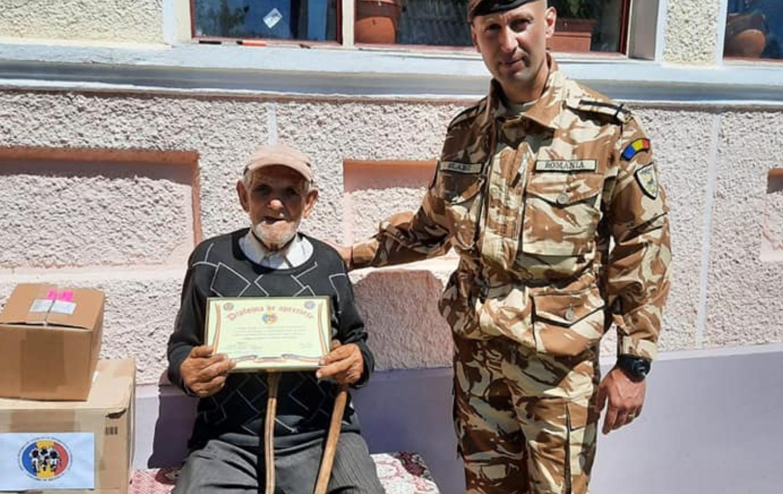 Veteranul de război Constantin Drăgulescu, sărbătorit la împlinirea vârstei de 100 de ani