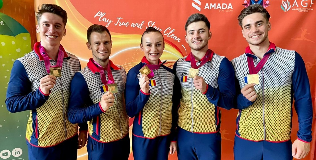 România a cucerit medaliile de aur în proba de grup, la Campionatul Mondial de gimnastică aerobică de la Baku