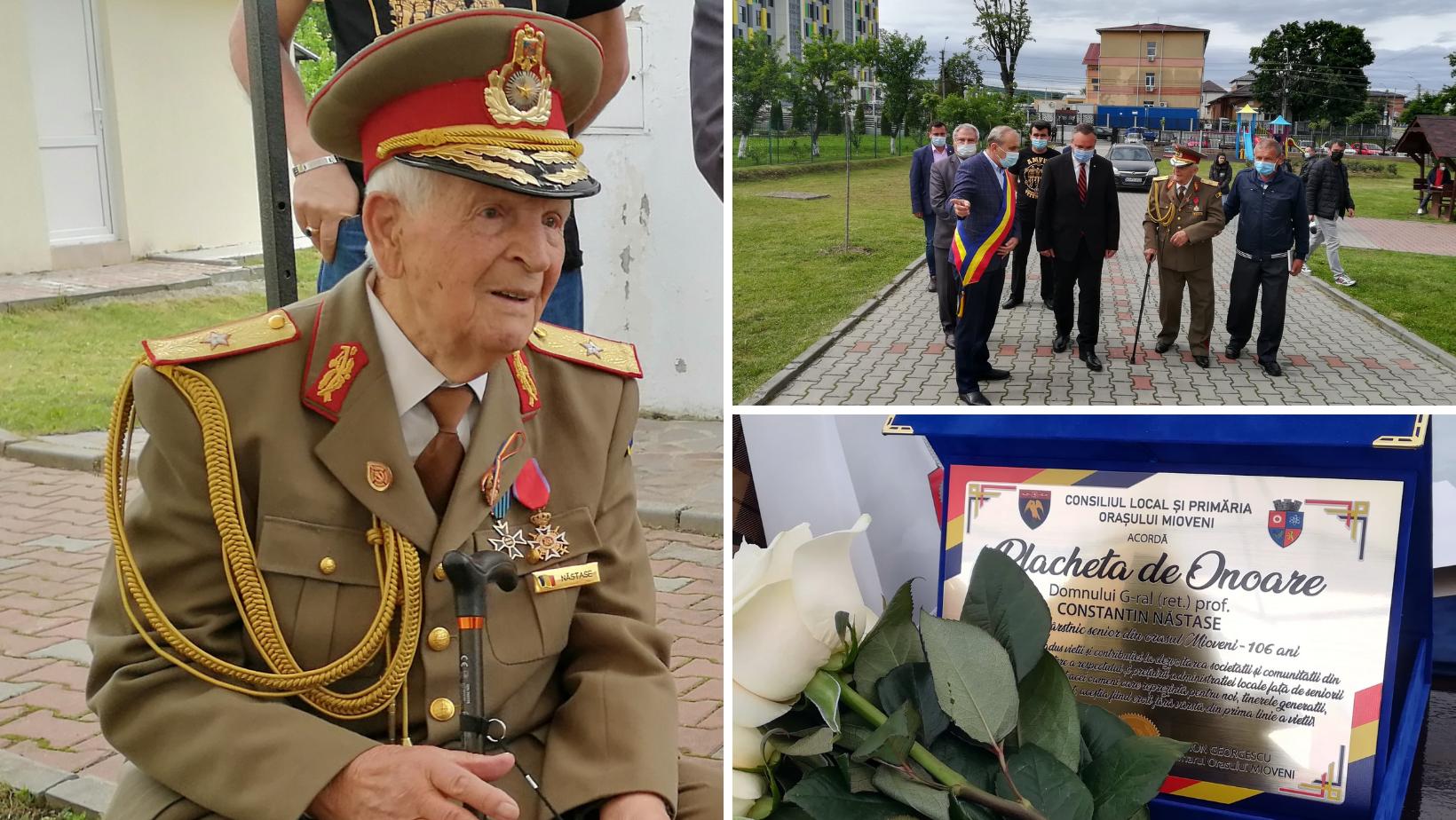 """Cel mai în vârstă General din România a împlinit 106 ani! """"Am mulțumirea sufletească, că în decursul celor 106 ani petrecuți pe acest pământ mi-am făcut datoria"""""""