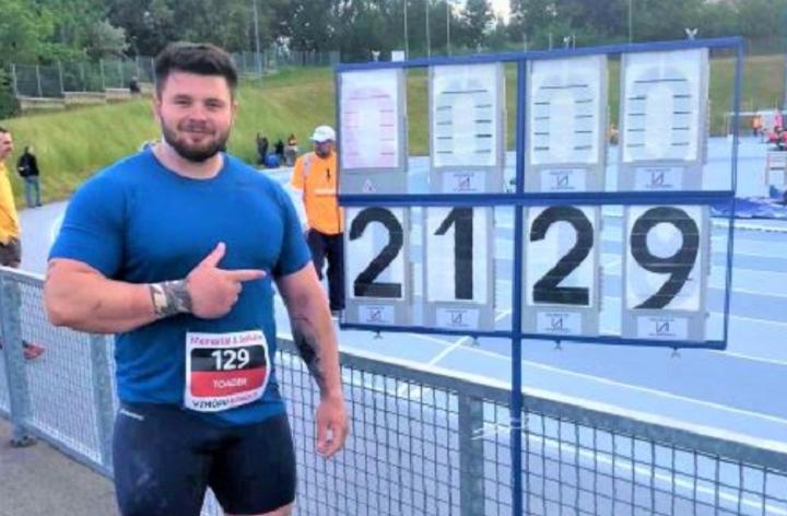 Rareş Toader a doborât recordul naţional la aruncarea greutăţii şi s-a calificat la JO de la Tokyo