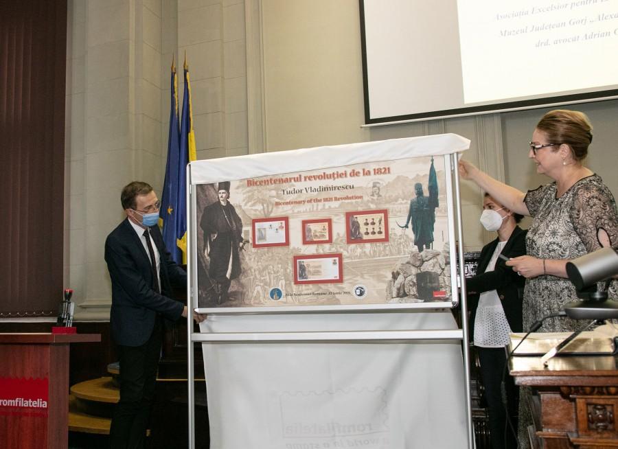 Timbrul românesc a sărbătorit Bicentenarul Revoluției lui Tudor Vladimirescu