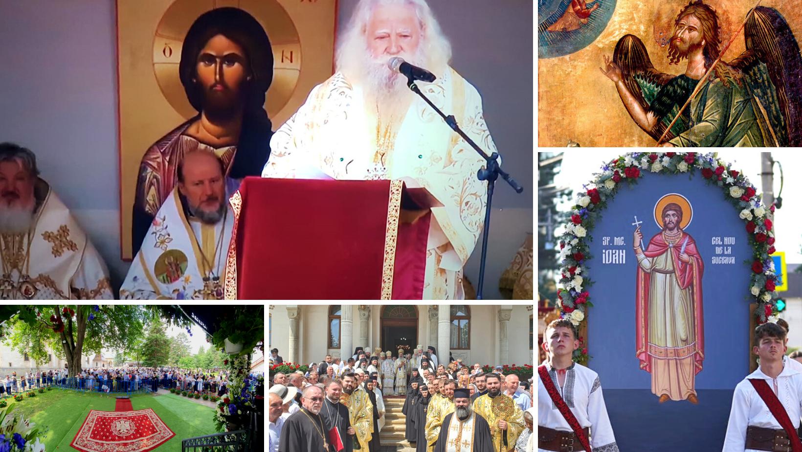 Sfinții Ioan Botezătorul și Ioan cel Nou de la Suceava, prăznuiți în Cetatea Sucevei și Rădăuților în prezența mai multor Ierarhi
