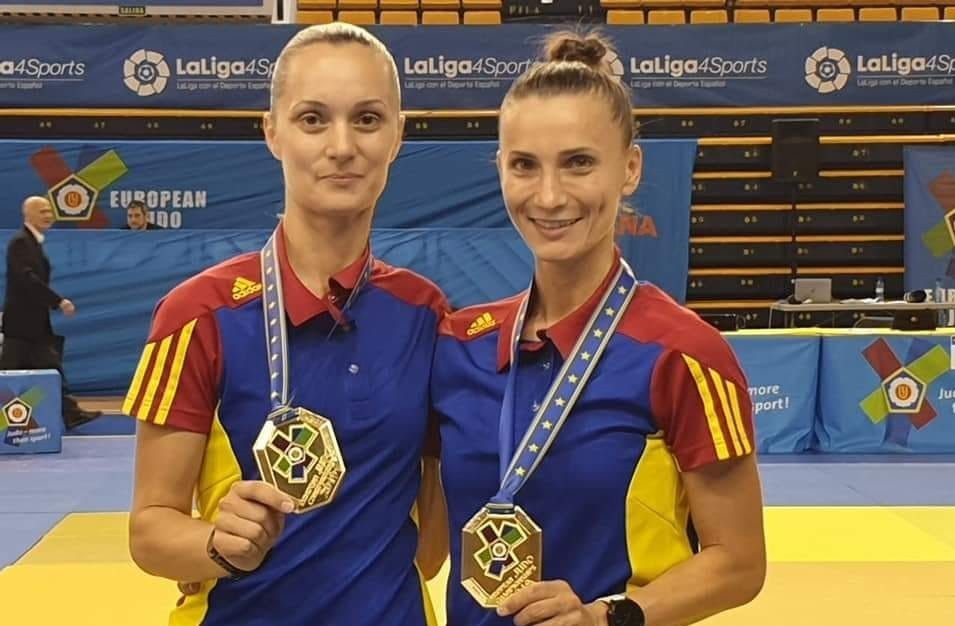 Alina Zaharia şi Alina Cheru, medaliate cu aur la Campionatele Europene de judo kata de la Varşovia