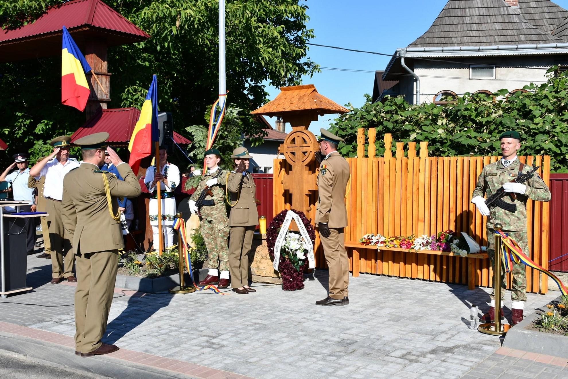 Primul monument comemorativ al Rezistenței anticomuniste din Bucovina, inaugurat  la Vicovu de Jos