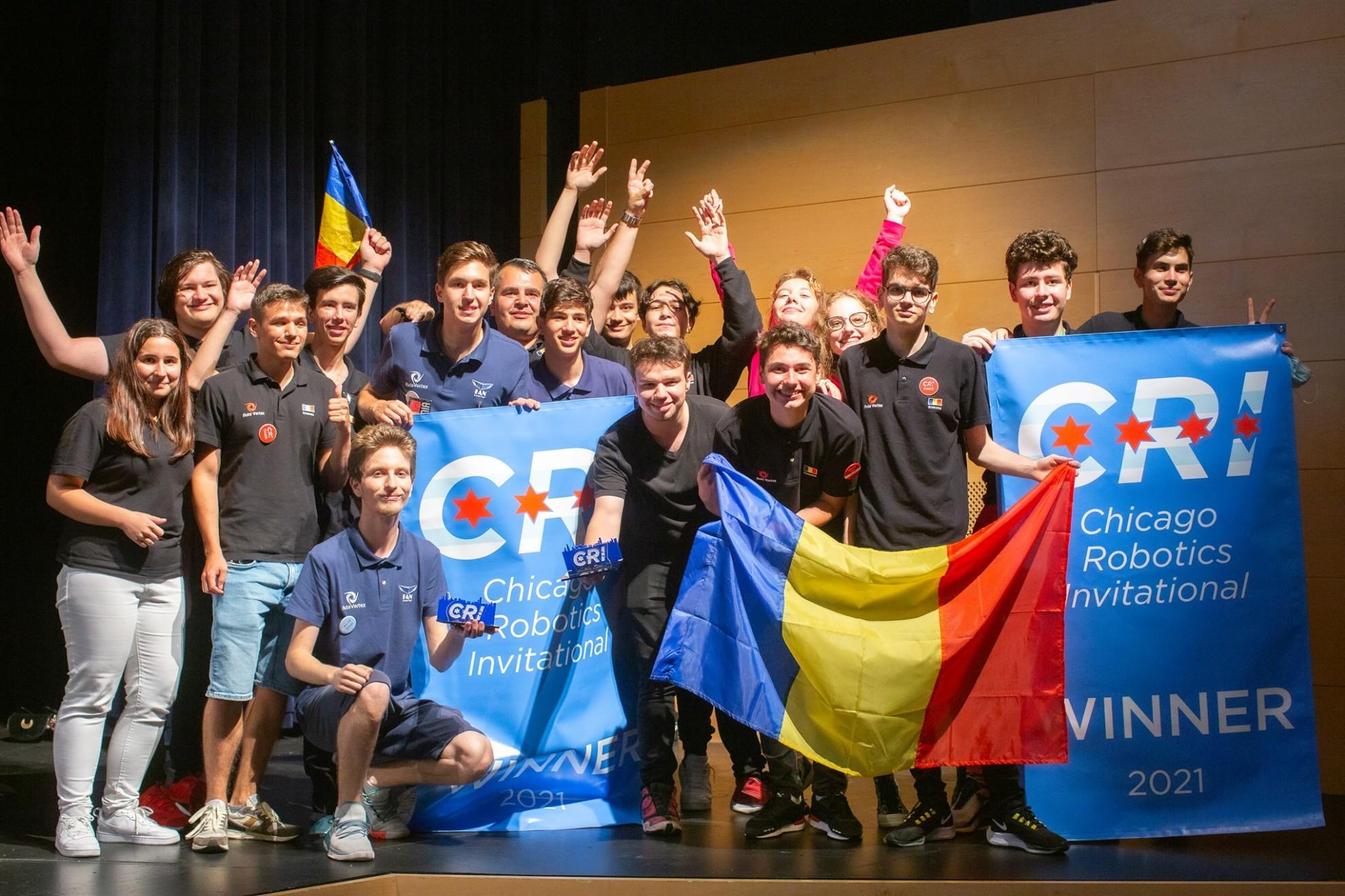 Echipa de robotică a României, prima echipă care după 1989 reușește să câștige pe pământ american Finala Mondială de Robotică