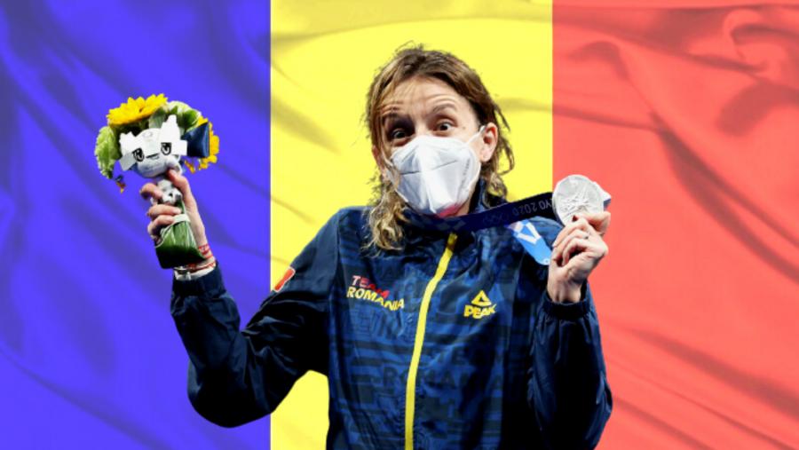 Prima medalie olimpică obținută la Tokyo a ajuns acasă! Ana Maria Popescu, întâmpinată cu flori, aplauze și multă emoție