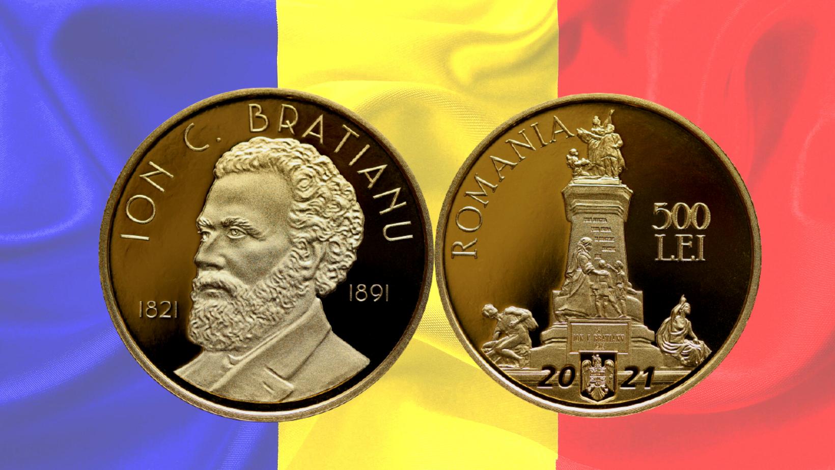 Ion Brătianu, omagiat la 200 de ani de la naștere printr-o monedă de aur lansată de BNR