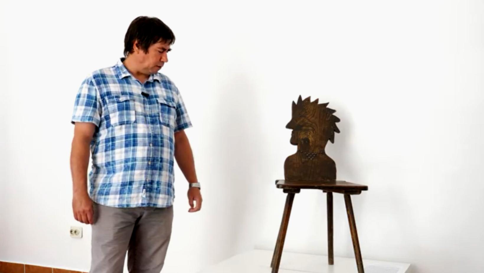 Fascinanta poveste a scaunului cu spătar în formă de cap de indian confecționat la Bonțești, la începutul sec. XX