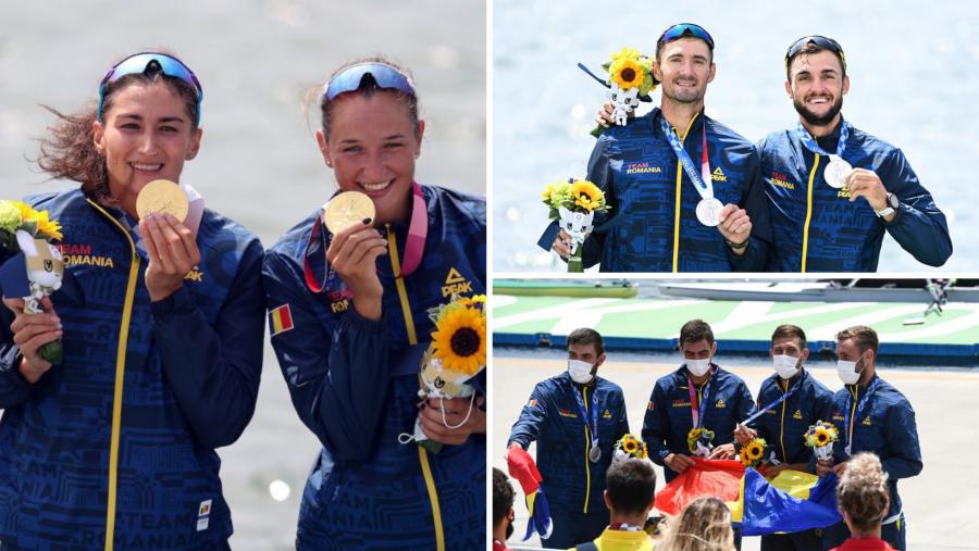 România, pe locul 4 la Tokyo în clasamentul pe naţiuni la canotaj