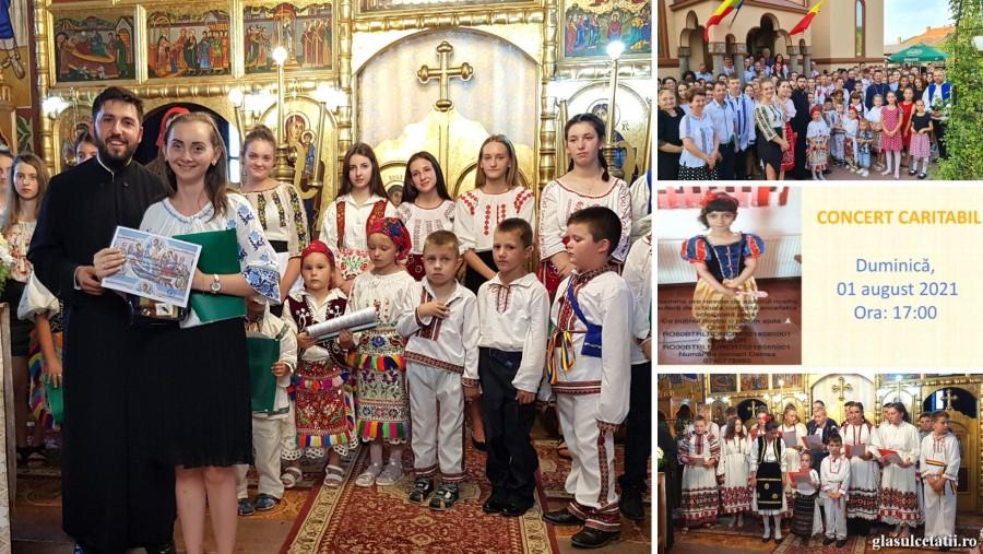 (FOTO) Tinerii din 7 parohii arădene au susținut un concert caritabil la Prunișor pentru Iasmina, fetița de 9 ani diagnosticată cu o boală gravă