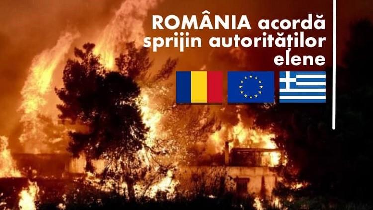 România acordă sprijin autorităților elene în lupta cu flăcările. 112 pompieri români pleacă astăzi în Grecia cu mai multe autospeciale