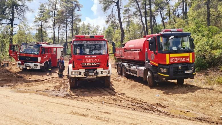 Pompierii români pleacă astăzi într-o nouă misiune în Grecia