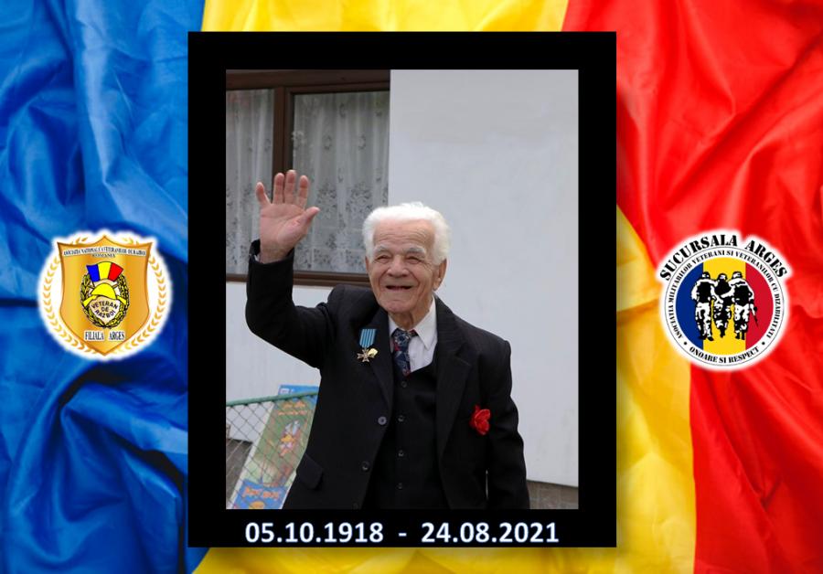 Veteranul de război Paraschiv Simăn, condus pe ultimul drum cu onoruri militare. Peste o lună ar fi împlinit 103 ani
