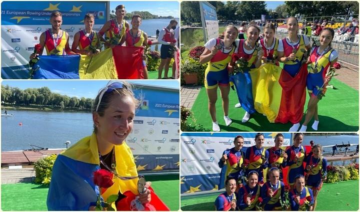 Canotorii români au câștigat astăzi 10 medalii la Campionatele Europene U23 de la Kruszwica, Polonia