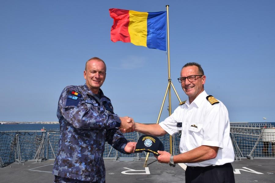 Forțele Navale Române au preluat comanda NATO a Operației Sea Guardian