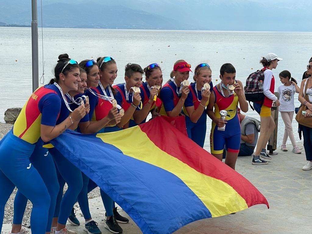 România a cucerit 19 medalii la Campionatele Balcanice de Canotaj din Macedonia de Nord