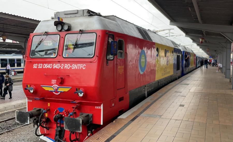 """Trenul """"Connecting Europe Express"""" a ajuns astăzi în România"""
