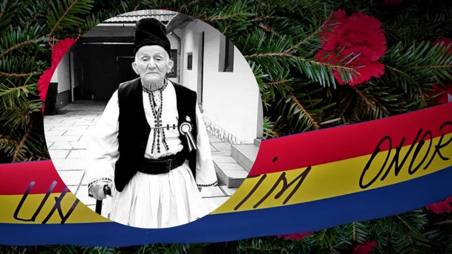 Un ultim onor, la ultimul veteran din Râu Sadului, moș Ilie Răduț!