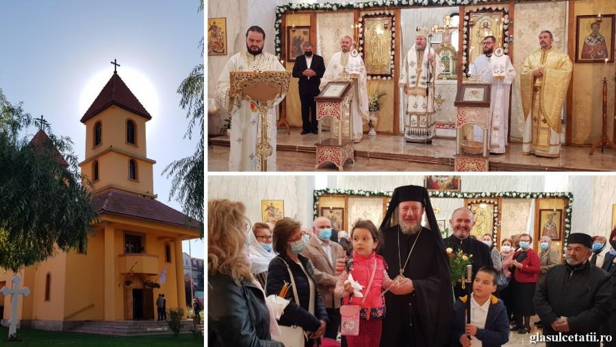 """(FOTO) Iubirea față de oameni ne face buni ca Dumnezeu, a spus PS Emilian Crișanul în Parohia """"Sf. Nicolae"""" Arad-Faleza Sud"""