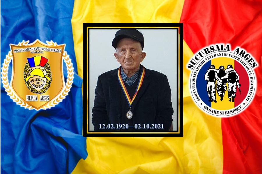 Veteranul de război Ion Zaharia a trecut la cele veșnice la 101 ani