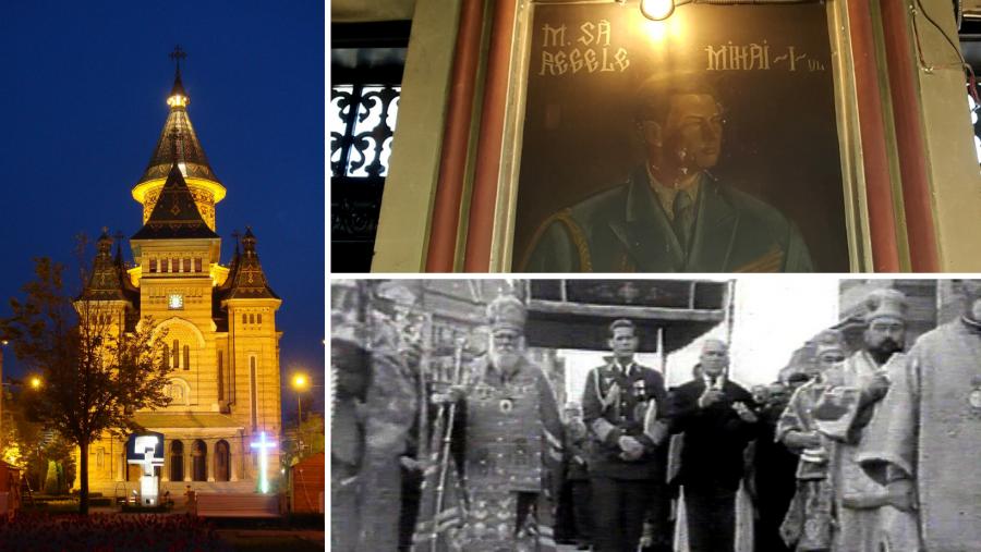 Astăzi se împlinesc 75 de ani de la târnosirea Catedralei mitropolitane din Timișoara, în prezența Regelui Mihai I al României