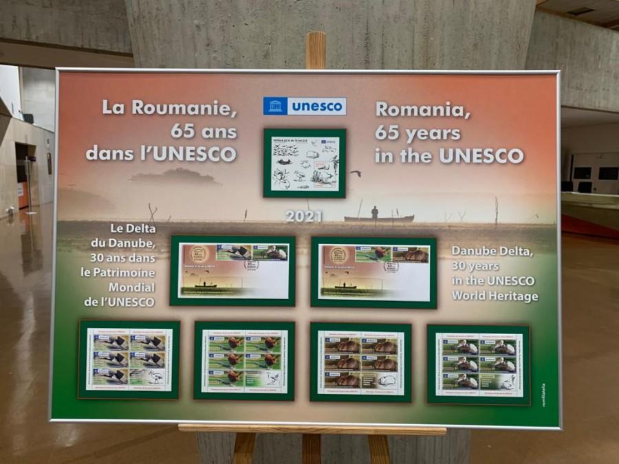 Romfilatelia, prezentă la Paris cu ocazia aniversării a 65 de ani de la aderarea României la UNESCO